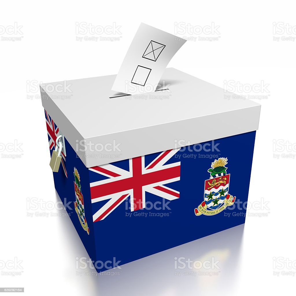 Election/ voting in Cayman Islands stock photo