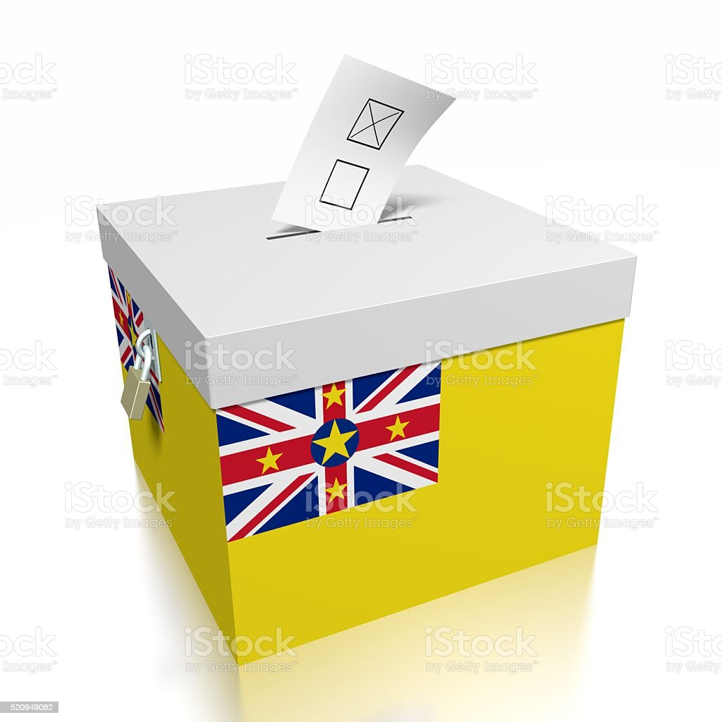 Election/ voting in Niue stock photo