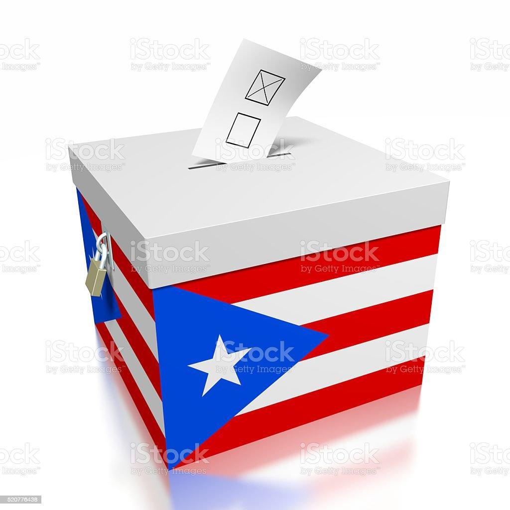 Elección/votar en Puerto Rico - foto de stock