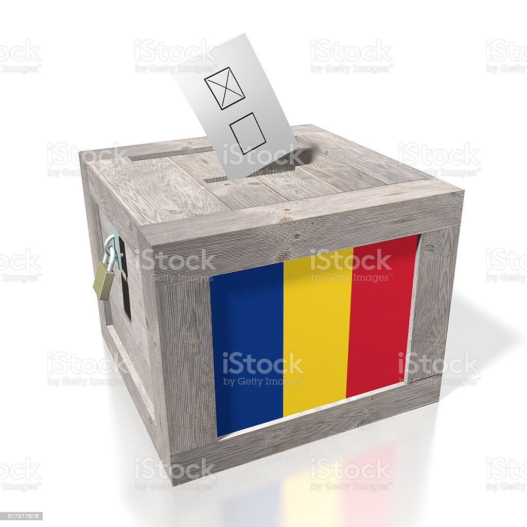Election/ voting in Romania stock photo