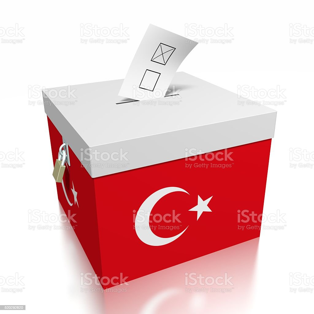Election/ voting in Turkey stock photo