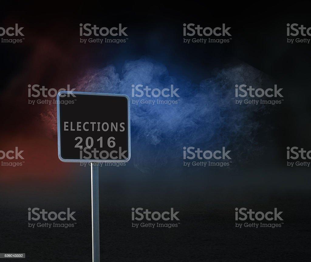 Elecciones de 2016 foto de stock libre de derechos