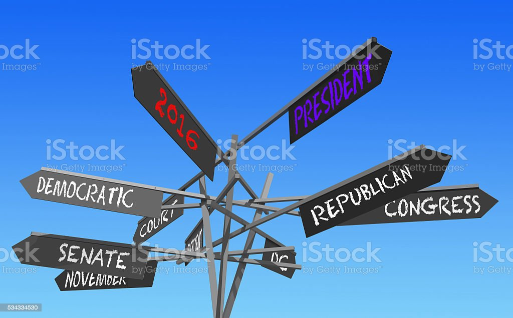 elections 2016 post stock photo