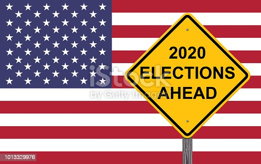 1157022917 istock photo 2020 Elections Ahead Caution Sign 1013329976