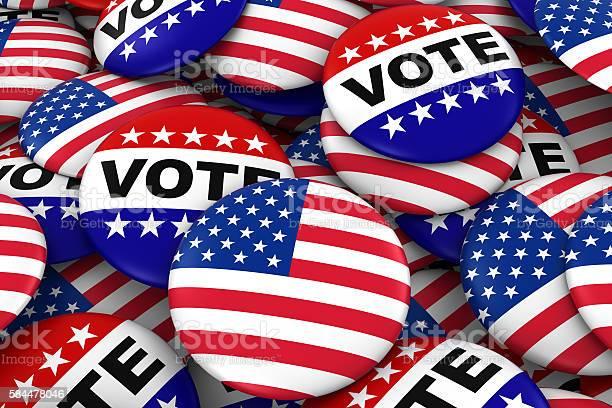 Elections concept united states flag and vote badges picture id584478046?b=1&k=6&m=584478046&s=612x612&h=bgch6mkz6w6eqelqx2 v o1nelfgyk60qc6egha8lac=