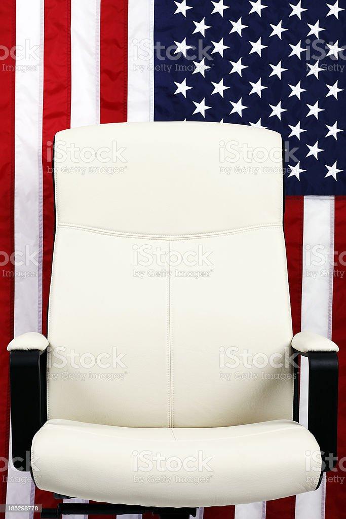 U.S. Elections. Empty Seat stock photo