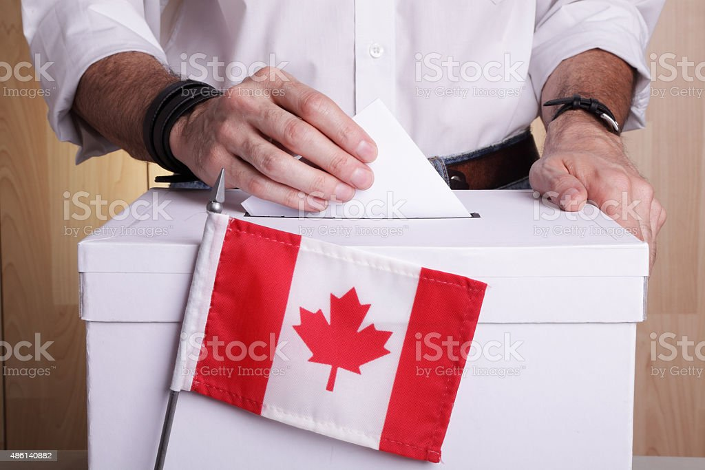 Elections in Canada royalty-free stock photo