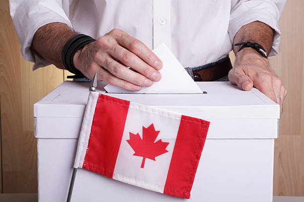 Elections in Canada stock photo