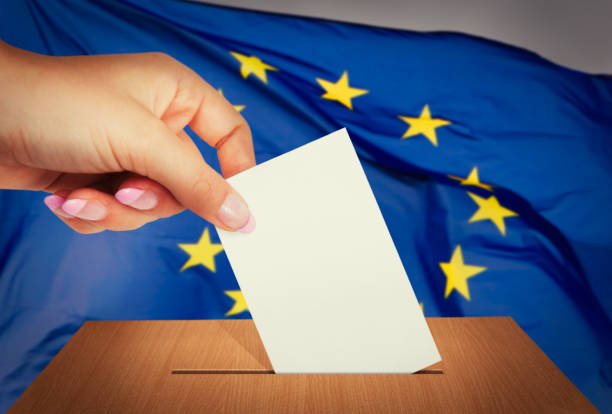 Elections in European Union stock photo