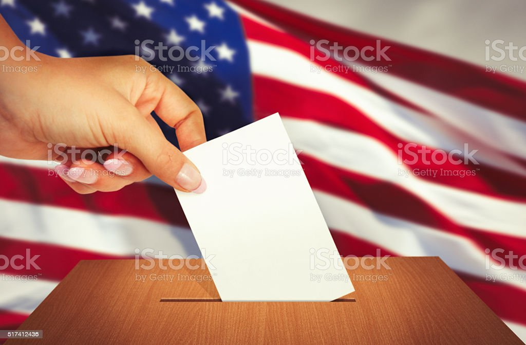 Elections in the United States of America stock photo