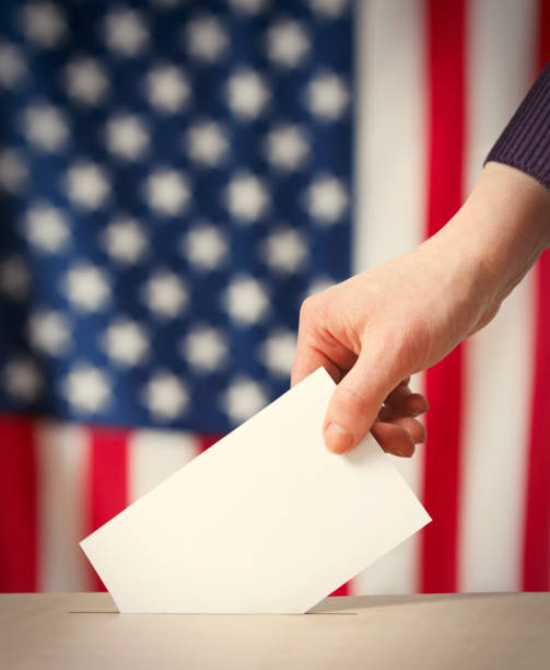 Elections in the USA stock photo