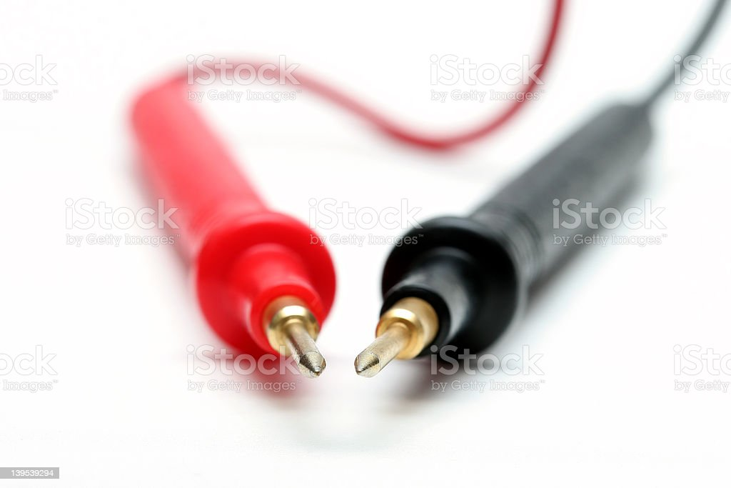 electonic multimeter probes royalty-free stock photo
