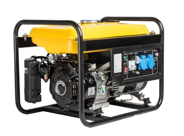 eléctrica ac generador alternador, aislado en blanco - generadores fotografías e imágenes de stock
