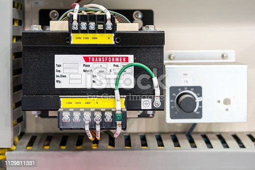 istock electric AC transformer power supply unit in box or cabinet for industrial production line or machine 1129811331