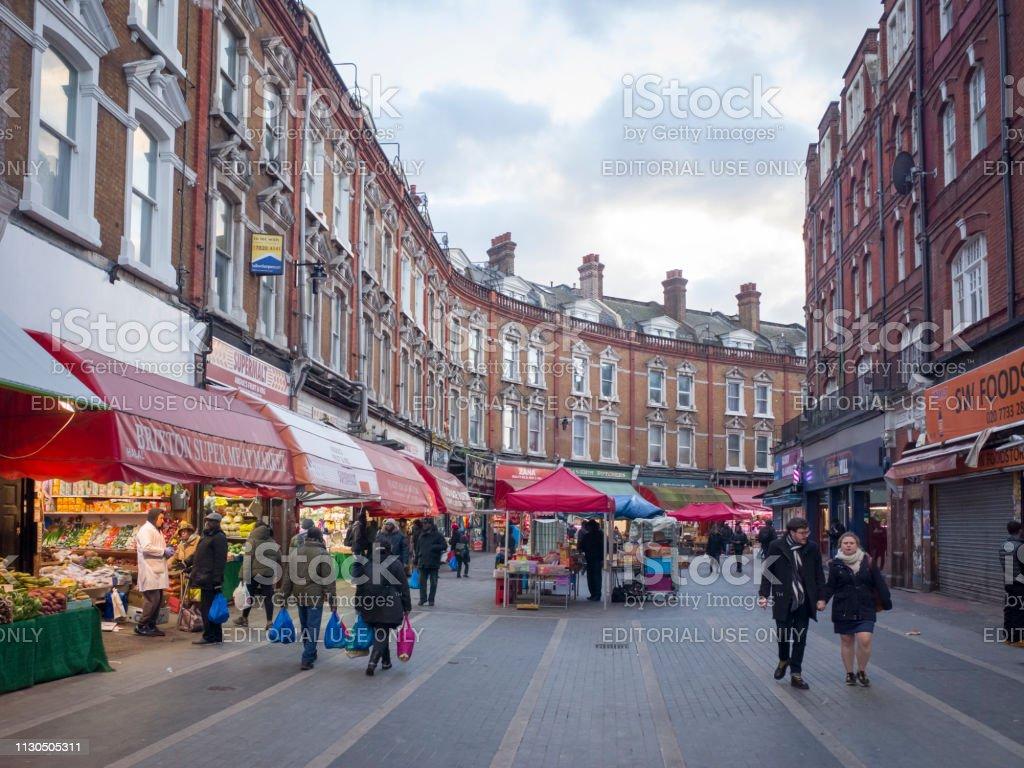 Electric Avenue, Brixton stock photo