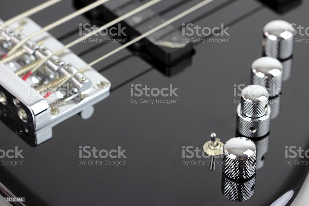Electric Bass Guitar isolated on white background royalty-free stock photo