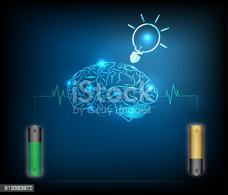 istock Electric battery energy  charge brain 513383972