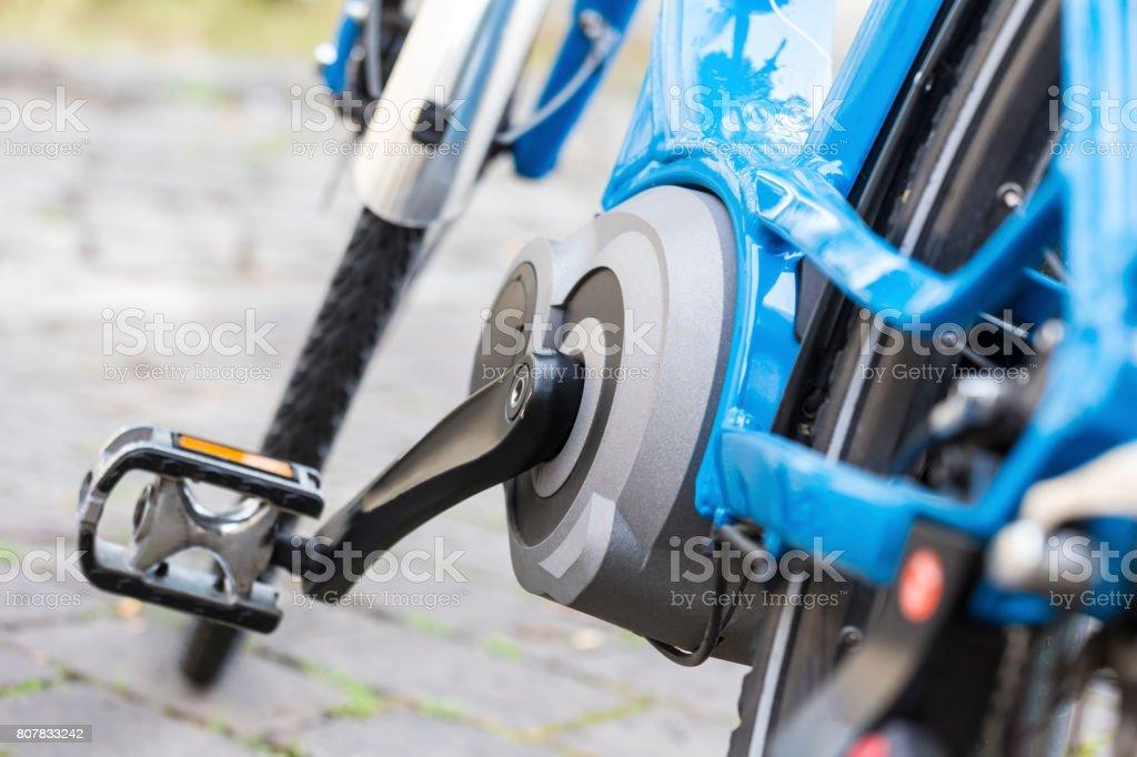 bicicleta eléctrica de cerca - foto de stock