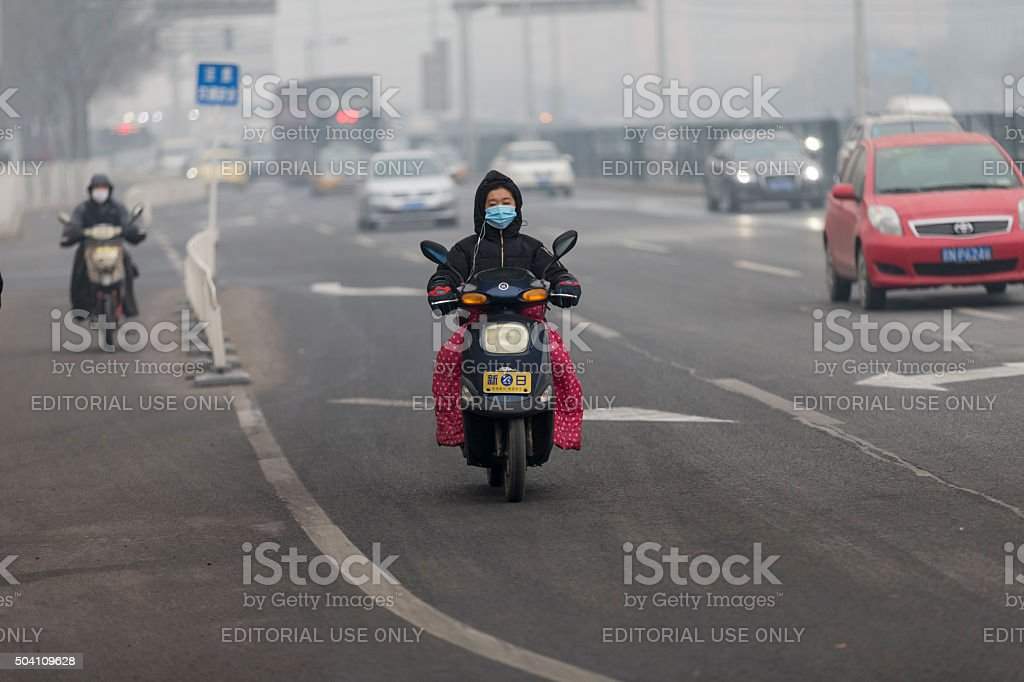 Electric Bike in Beijing stock photo