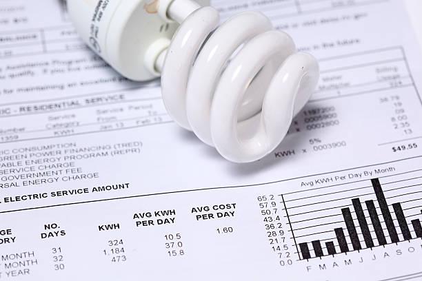 Electric bill stock photo
