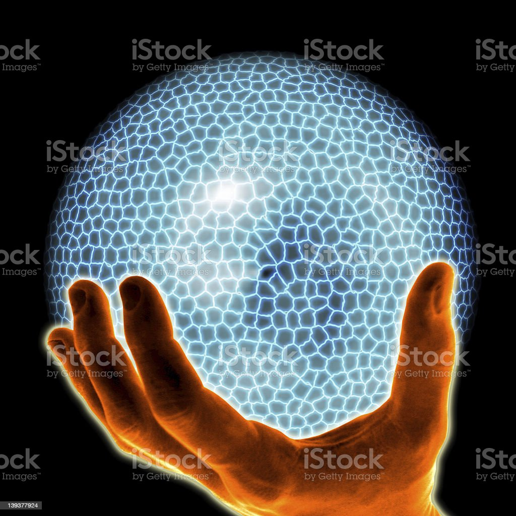 electric blue ball royalty-free stock photo