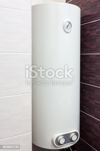 istock Electric Boiler (wall water heater) in bathroom 503952230