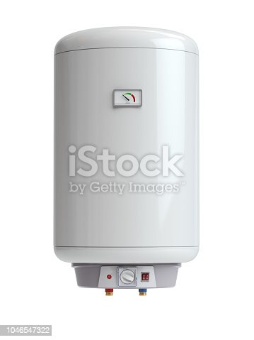istock Electric boiler, water heater isolated on white background. 1046547322