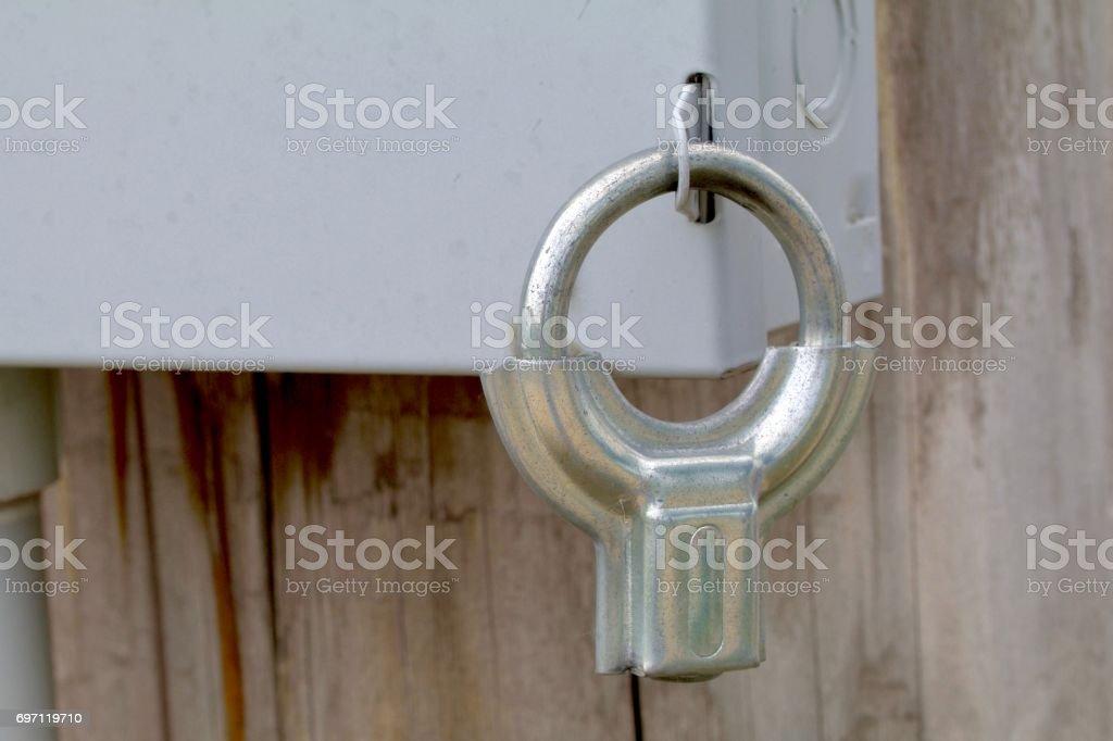 Electric Box Lock stock photo
