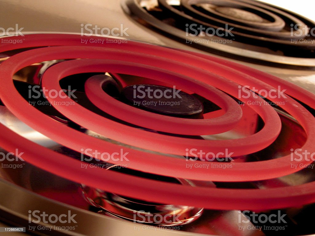 electric burner macro stock photo