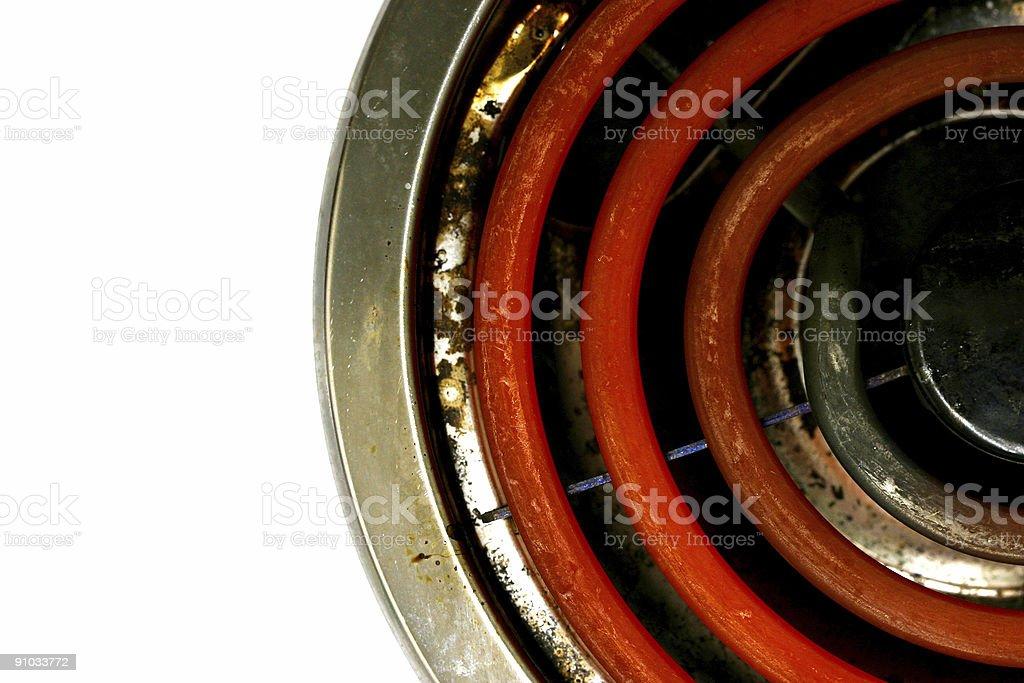 Electric Burner stock photo