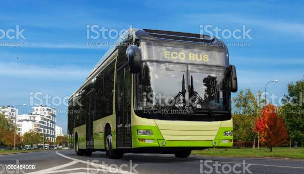Electric bus illustration urban ecology green concept picture id1066484026?b=1&k=6&m=1066484026&s=612x612&h=wfrn1qjhodxnmt1iofenm ackngclsnii69hy9lutbs=