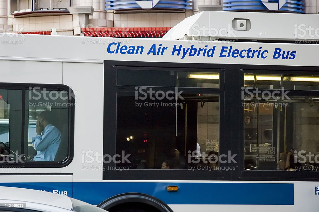 Electric Bus royalty-free stock photo