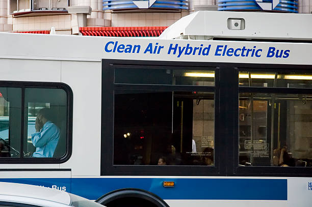 Electric Bus stock photo