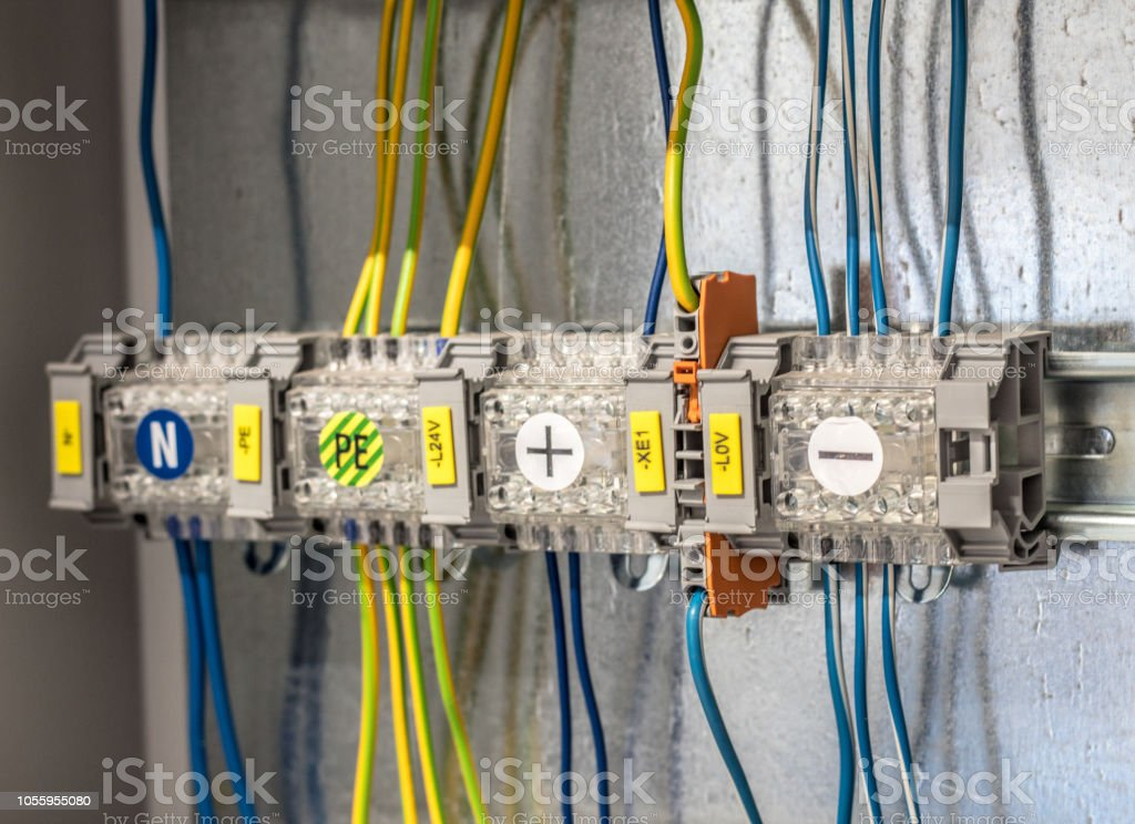 Miraculous Electric Cabinet With Wires Connections Stock Photo More Pictures Wiring Digital Resources Tziciprontobusorg
