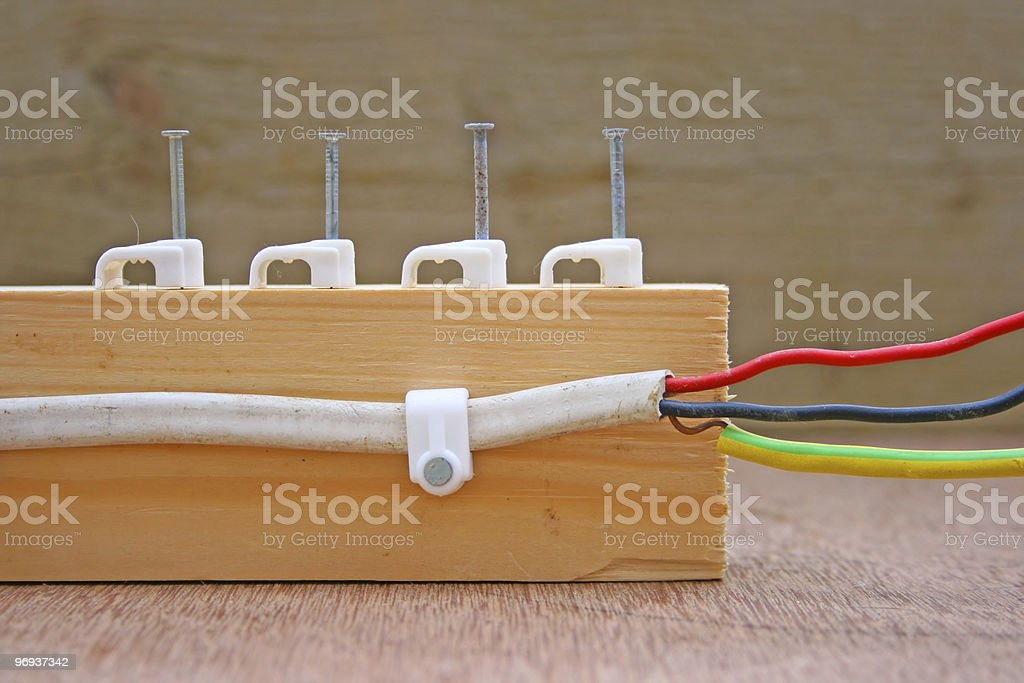 Electric cable royalty-free stock photo
