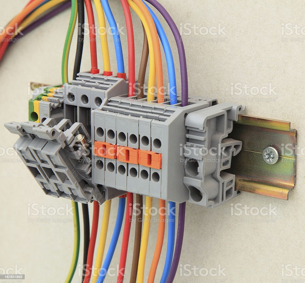 Electric cables royalty-free stock photo