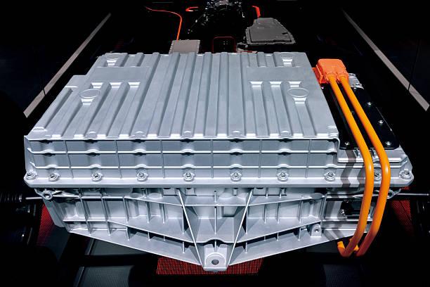 Electric Car Battery Box stock photo