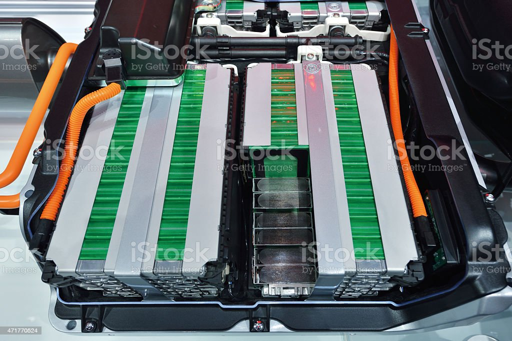 Electric Car Battery bildbanksfoto