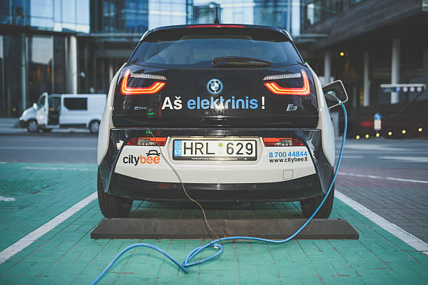 Electric car BMW I3 stock photo