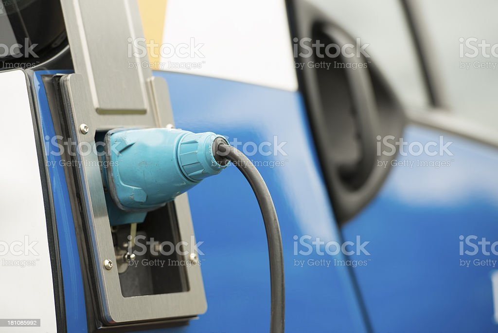 Electric car charging energy royalty-free stock photo
