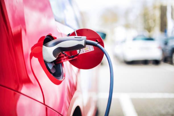 Chargement de voiture électrique - Photo