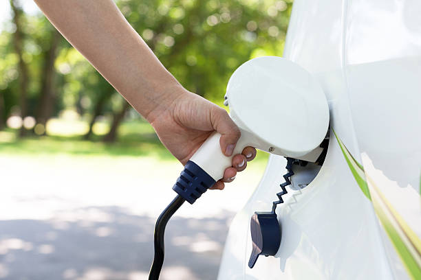 electric car charging - elbil bildbanksfoton och bilder