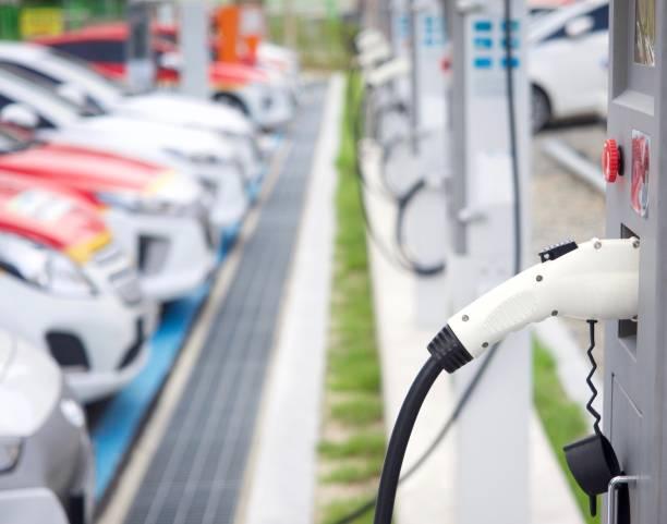 Voiture électrique charge conductive en Corée - Photo