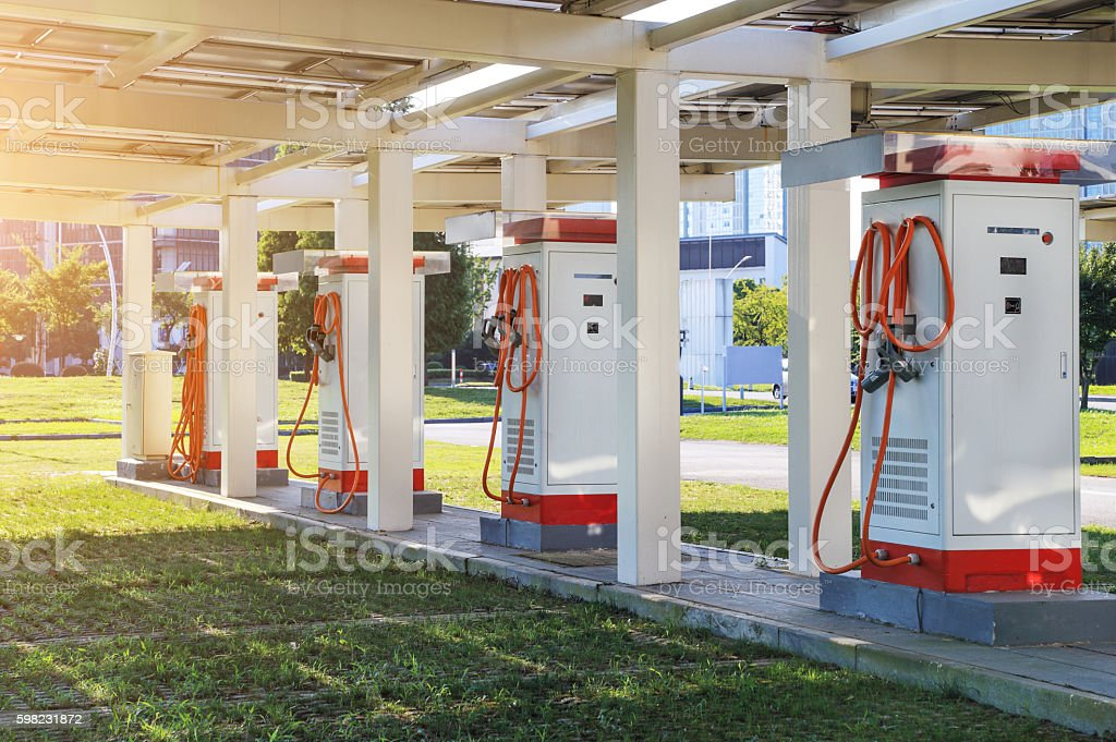 electric car charging stations foto royalty-free