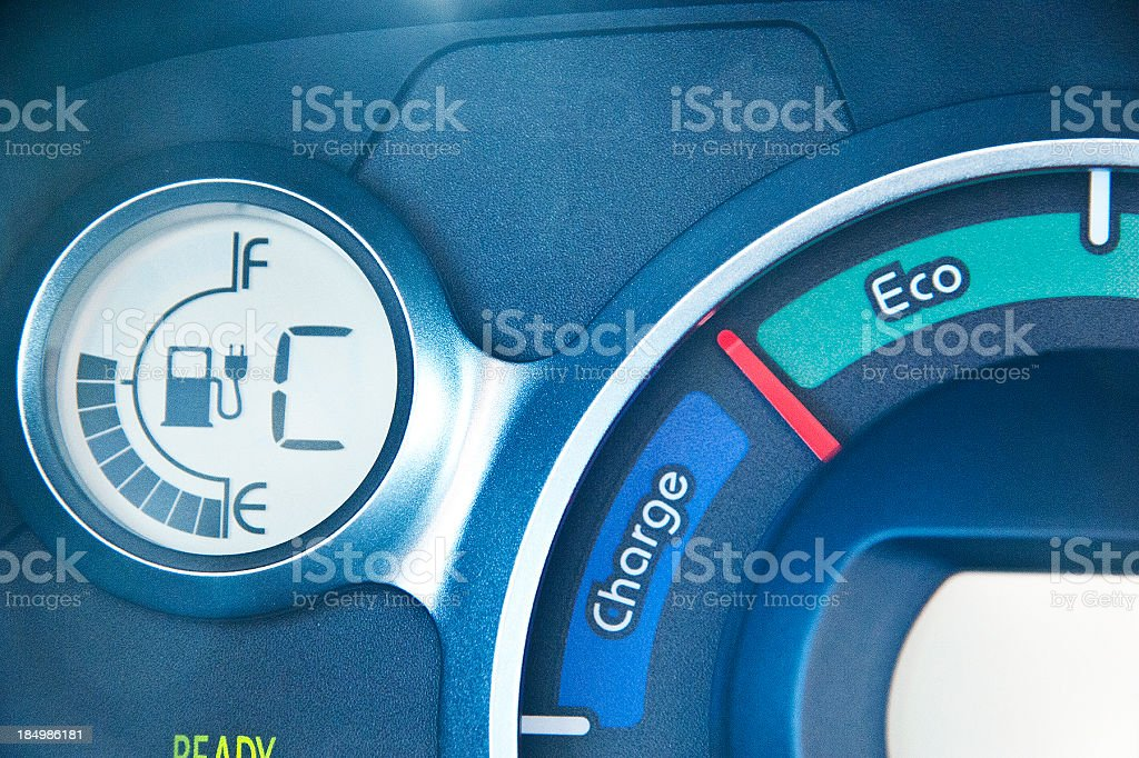 electric car fuel charge stock photo