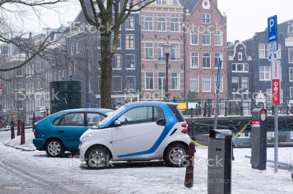 Elektroauto in Amsterdam – Foto