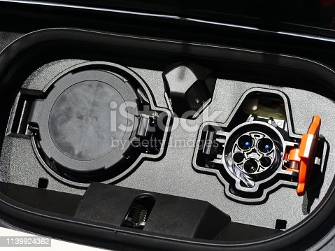 istock Electric Car in Charging Station new technology 1139924362
