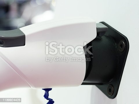 istock Electric Car in Charging Station new technology 1139924425
