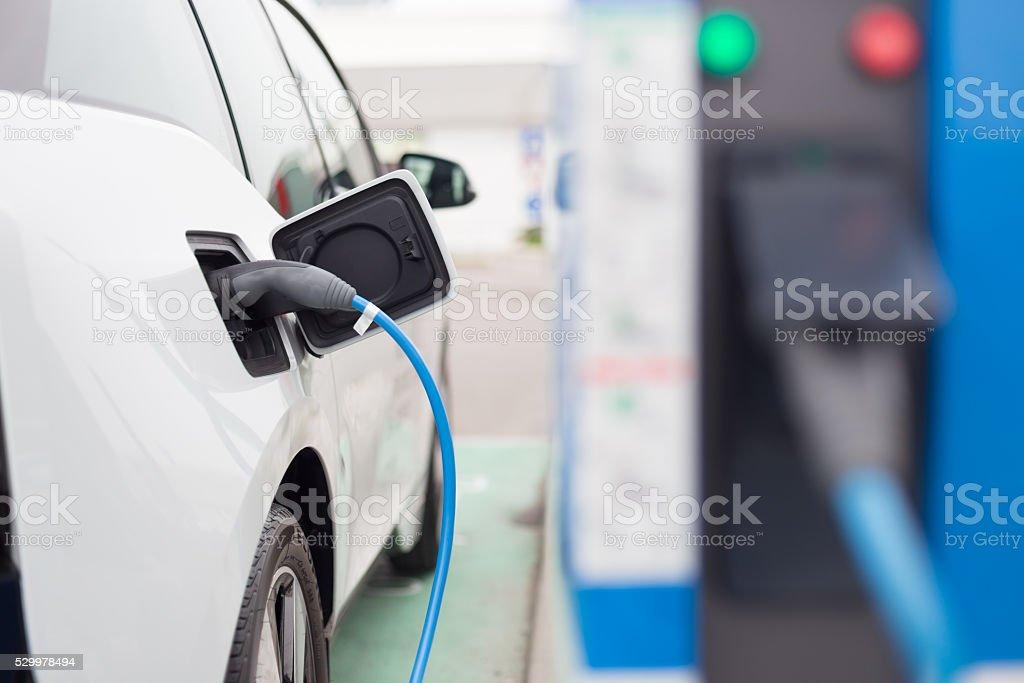 Ladestationen für Elektrofahrzeuge. – Foto