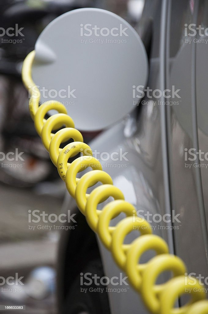 Electric Car loading on Chatging Station stock photo
